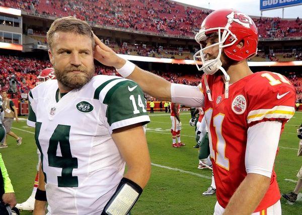 New York Jets quarterback Ryan Fitzpatrick and Kansas