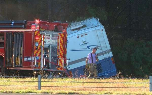 A firefighter at the scene of a fatal