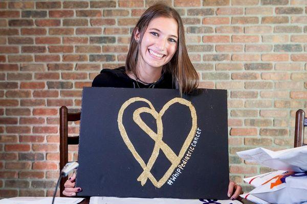 Jordan Belous, 17, of Melville, launched a
