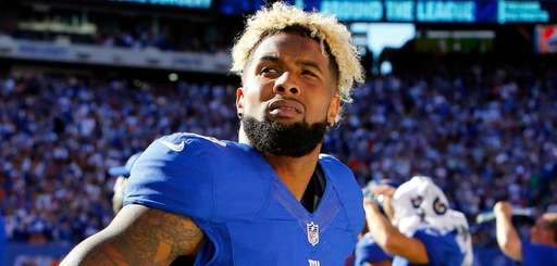 Giants receiver Odell Beckham Jr. on the sidelines
