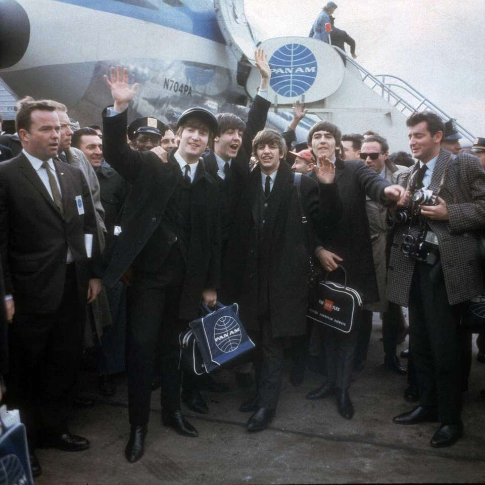 The Beatles arrive at New York's Kennedy Airport