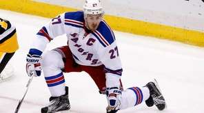 Rangers defenseman Ryan McDonagh blocks a shot