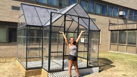 Senior Christina Capobianco raised fund for this greenhous