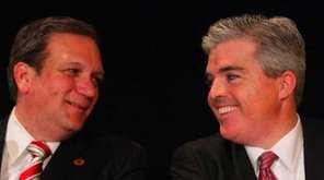 Nassau County Executive Edward Mangano and Suffolk County