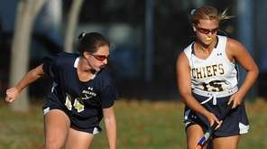 Sarah Whelan of Massapequa, right, and Daniella Specht