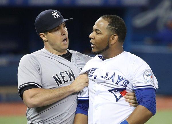 Yankees top Blue Jays in testy game, avoid sweep
