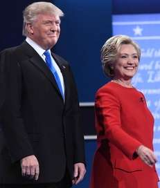 The debate between Donald Trump and Hillary Clinton