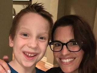 Transgender child actor Jackson Millarker, left, will guest