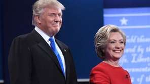 Republican presidential nominee Donald Trump and Democratic presidential