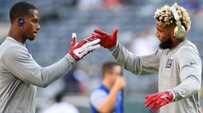 Victor Cruz and Odell Beckham Jr. of the