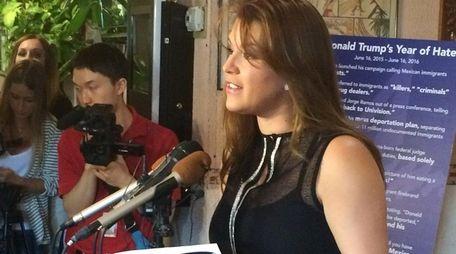 Former Miss Universe Alicia Machado criticizes Donald Trump