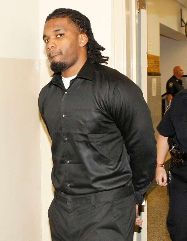 Tayquan Clark arrives at the Nassau County Courthouse