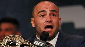 Eddie Alvarez addresses the media during the UFC