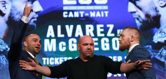 Conor McGregor and Eddie Alvarez face off as