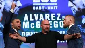 Conor McGregor and Eddie Alvarez face off as