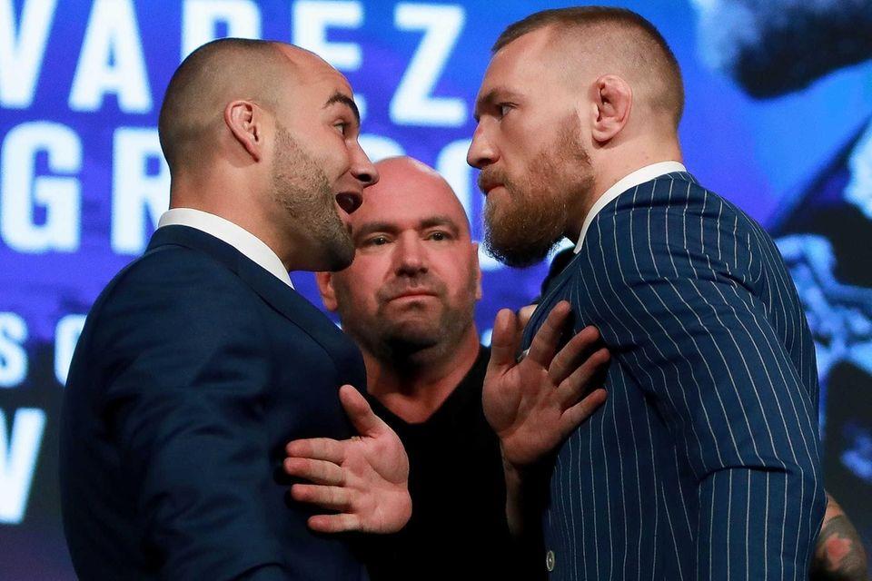 Conor McGregor and Eddie Alvarez face-off as UFC