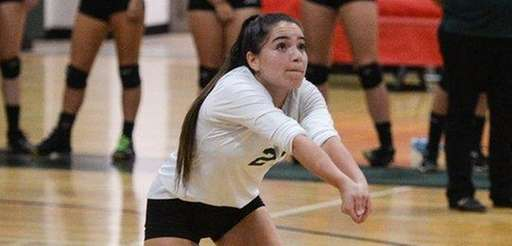 Holy Trinity's Amanda Colon, who anchored the defense