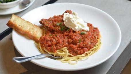 The Brooklyn Sunday Dinner with spaghetti, pork ribs,