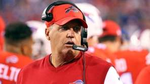 Buffalo Bills coach Rex Ryan walks on the