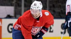 Team USA's Derek Stepan, of the New York