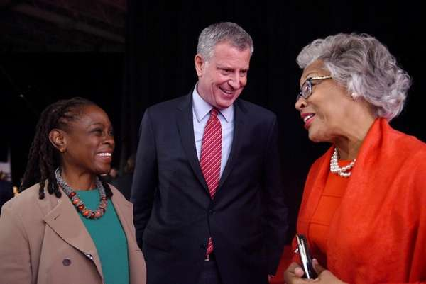 Chirlane McCray and Bill de Blasio are seen