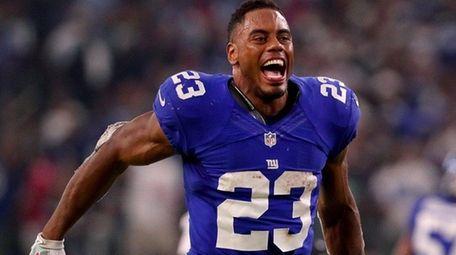 Rashad Jennings of the New York Giants celebrates