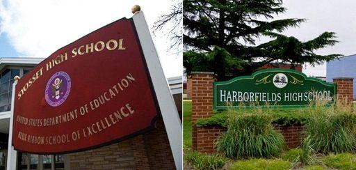 Syosset High School and Harborfields High School in