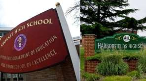 Syosset High School and Harborfields High School in
