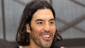 Nets' Luis Scola talks to media at Nets
