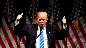 US Republican presidential nominee Donald Trump speaks during