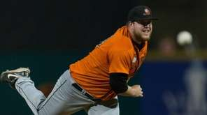 Long Island Ducks' Matt Larkins was the losing