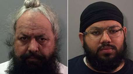 Kulbir Singh, 53, left, and his son Ladpreet