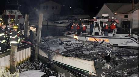 The Wantagh and Freeport fire departments responded to