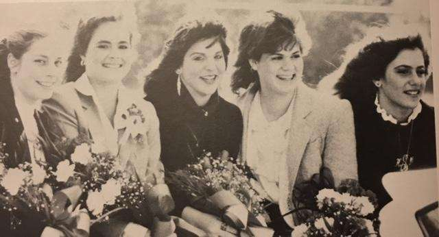 Lori Ann Messino, center, then known as Lori