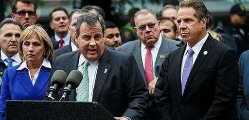 New Jersey Governor Chris Christie and New York