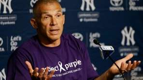 New York Yankees manager Joe Girardi, wearing a