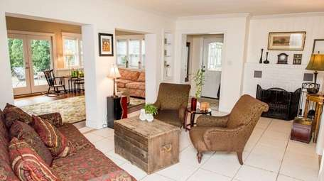 A living area in the Bellport ranch of