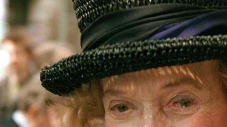 Philanthropist and socialite Brooke Astor is pictured on