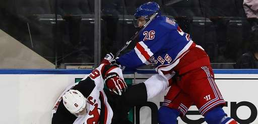Jimmy Vesey #26 of the New York Rangers