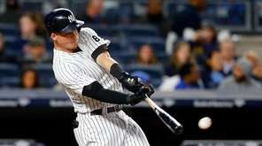Tyler Austin of the Yankees connects on a