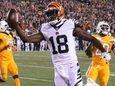 Cincinnati Bengals wide receiver A.J. Green (18) scores