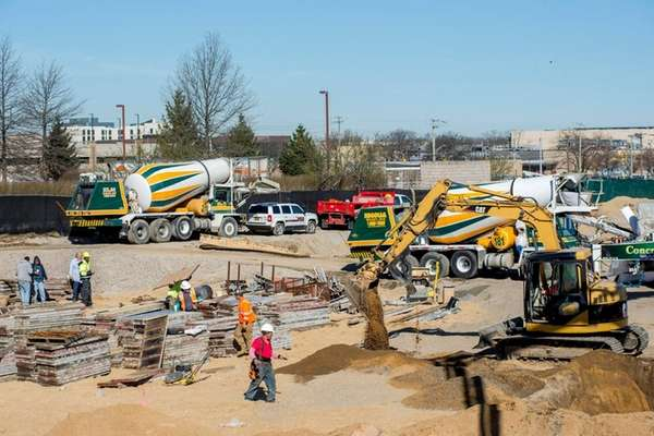 Construction is underway March 30, 2016 at The