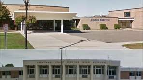 North Babylon High School (top) and Central Islip