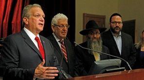 Nassau County Executive Edward Mangano joins with religious