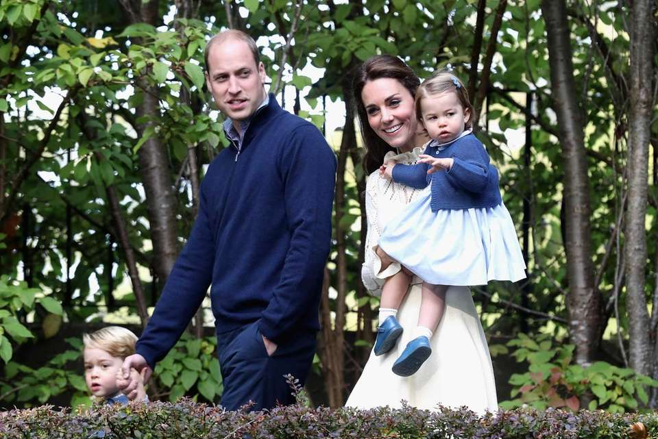 Prince William, Kate, Charlotte and George, attend a