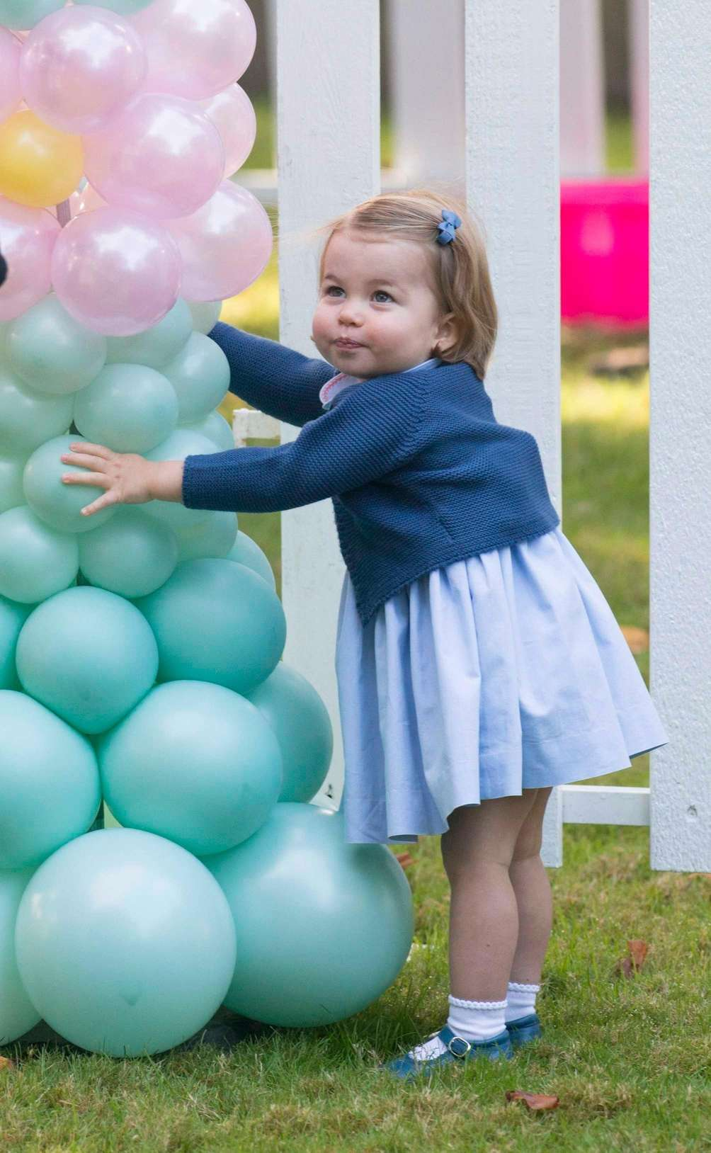 Princess Charlotte attends a party at Government House
