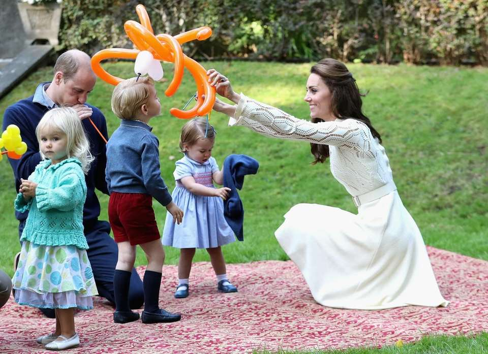 Prince William, Duchess Kate, Princess Charlotte and Prince