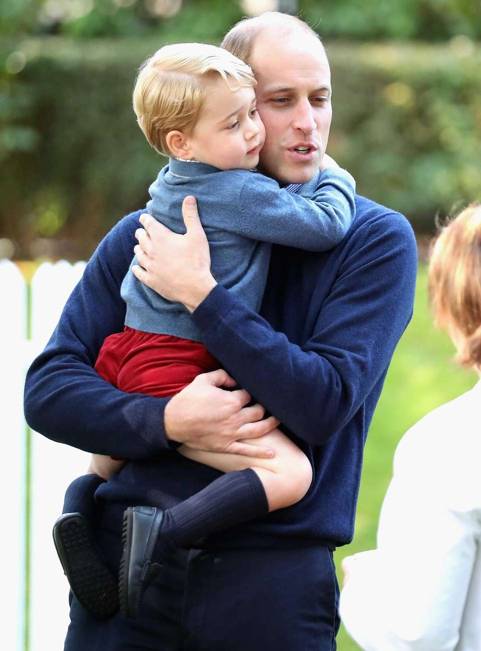 Prince George and Prince William attend a children's