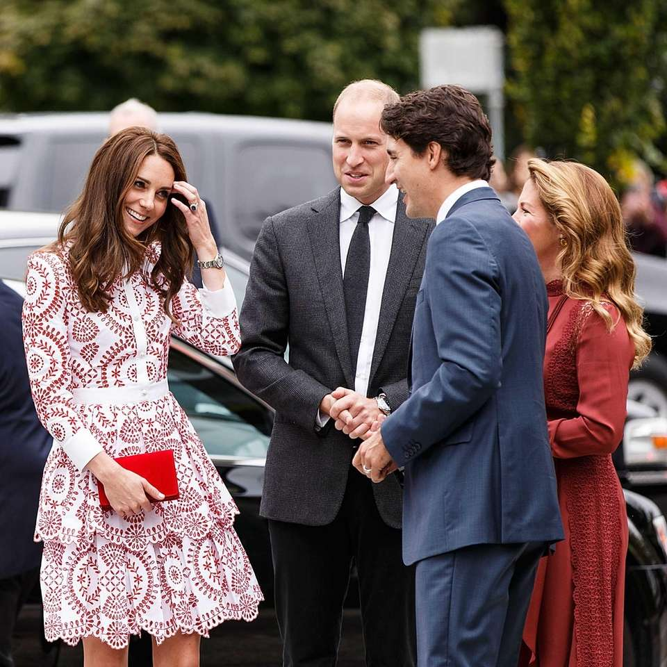 Prince William and Kate meet with Canadian Prime