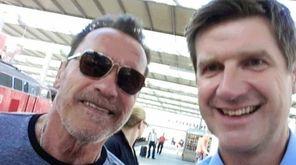 California Gov. Arnold Schwarzenegger, a former 'Terminator' star